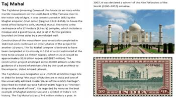 The Taj Mahal Activity Pack