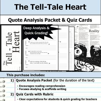 The Tell-Tale Heart - Quote Analysis & Reading Quizzes