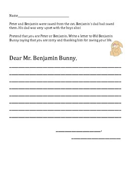 """The Tale of Benjamin Bunny"" Comprehension and Other Activities"