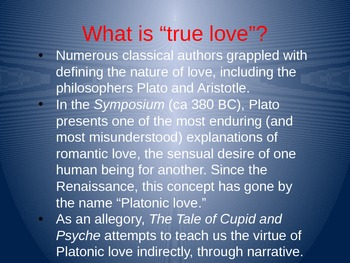 The Tale of Cupid and Psyche Part I