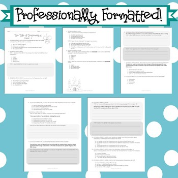 The Tale of Despereaux 3rd Grade Florida Standards Assessment Novel Study