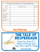 The Tale of Despereaux, Book Study, Flipbook, Activities, Fairy Tales vs Fables