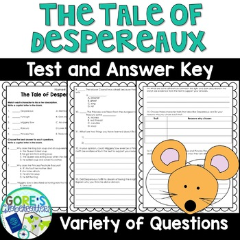 The Tale of Despereaux Book Test