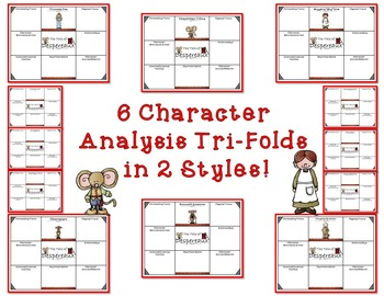 The Tale of Despereaux Character and Literary Element Analysis Tri-Folds