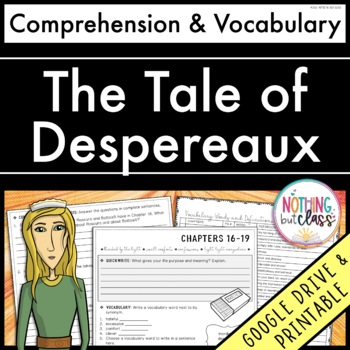 The Tale of Despereaux: Comprehension & Vocabulary by chapter