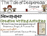 The Tale of Despereaux - Novel Study - Creative Writing - Kate DiCamillo