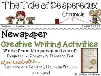 The Tale of Despereaux - Novel Study - Creative Writing -