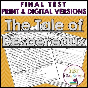 The Tale of Despereaux Final Test