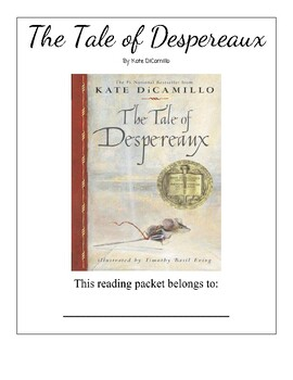 The Tale of Despereaux Guided Reading Packet