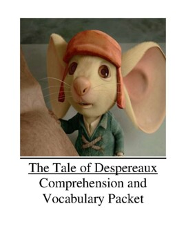 The Tale of Despereaux Guided Reading Unit Level U