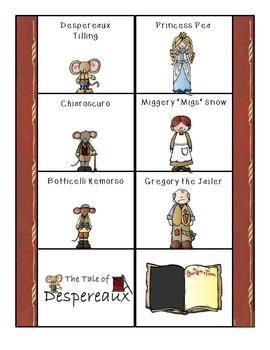 The Tale of Despereaux Mini Character Analysis Fold-Ems & Writing Templates