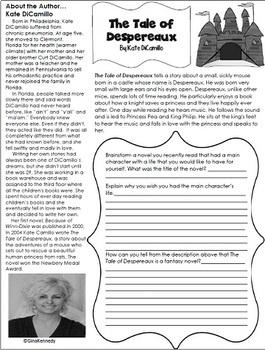 The Tale of Despereaux Novel Study & Enrichment Project Menu