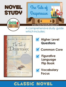 The Tale of Despereaux {Novel Study & Figurative Language Flip Book}