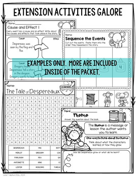 The Tale of Despereaux Comprehension Study