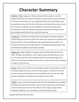 The Tale of Despereaux Novel Study/Teacher's Guide