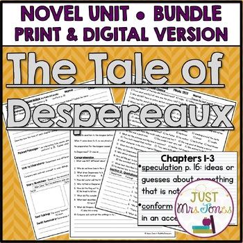 The Tale of Despereaux Novel Unit