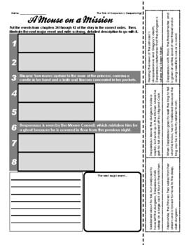 The Tale of Despereaux - Sequencing / Retelling (ch. 34-42)