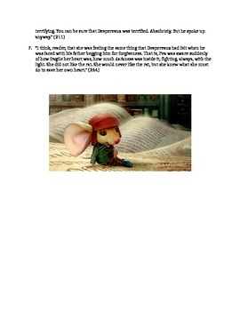 The Tale of Despereaux Test or Study Guide
