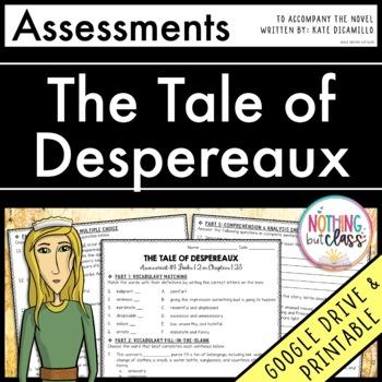 The Tale of Despereaux: Tests, Quizzes, Assessments