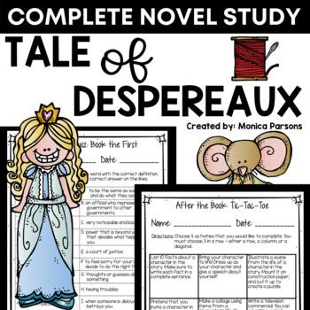 Tale of Despereaux Unit and Novel Study