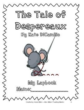 The Tale of Despereaux Interactive Literature Unit with Foldables Common Core