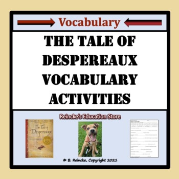The Tale of Despereaux Vocabulary Activities