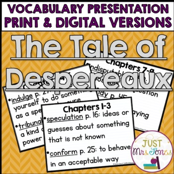 The Tale of Despereaux Vocabulary Presentation