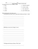 The Tale of Despereaux - Vocabulary and Comprehension Quiz Chapters 16-23