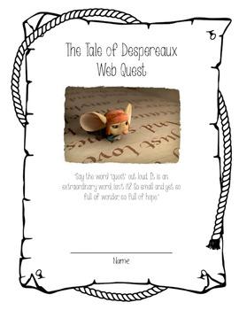 The Tale of Despereaux Webquest