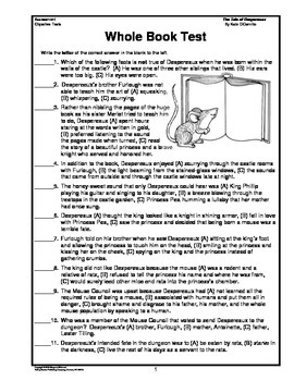 The Tale of Despereaux Whole Book Test