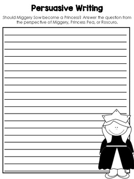 The Tale of Despereaux Writing Worksheets