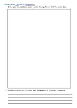 The Tale of Despereaux - a Novel study