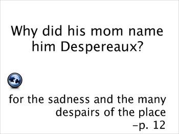 The Tale of Despereaux by Kate Dicamilo - Quiz