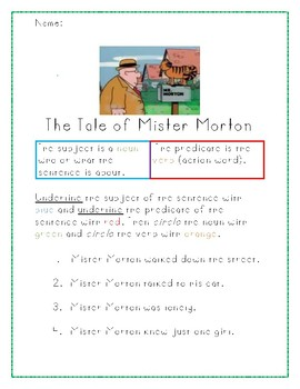 The Tale of Mister Morton Worksheet