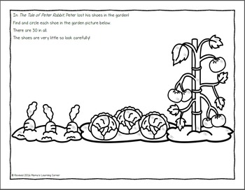 The Tale of Peter Rabbit Printable Activities