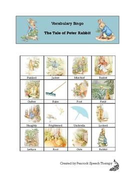 The Tale of Peter Rabbit - VOCABULARY BINGO