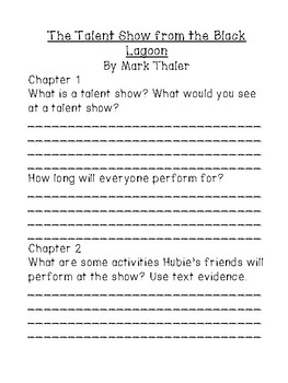 The Talent Show from the Black Lagoon by Mike Thaler