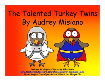 The Talented Turkey Twins Bundle (English Places & Professions)