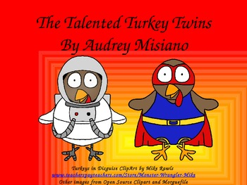 The Talented Turkey Twins (English Places & Professions)