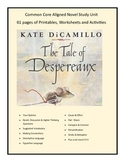 The Tales Of Despereaux  Common Core Aligned Novel Study 61 pgs