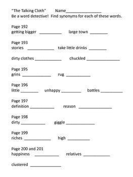 The Talking Cloth--Houghton Mifflin--Grade 3---Supplemental Packet