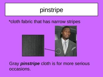 The Talking Cloth Vocabulary
