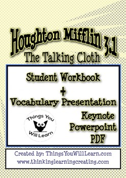 The Talking Cloth Workbook and Vocabulary Show Bundle
