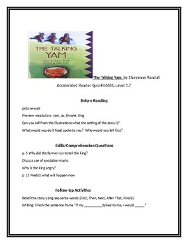 The Talking Yam for Guided Reading
