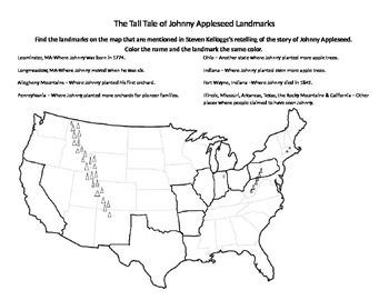 The Tall Tale of Johnny Appleseed Landmark Activity