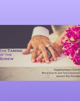 The Taming of the Shew Word Search and Key Term Identification- NO PREP
