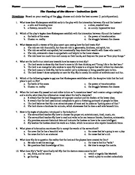The Taming of the Shrew Induction 10-Question Multiple Choice Quiz
