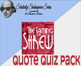 The Taming of the Shrew Quote Quiz Pack w/ Differentiation