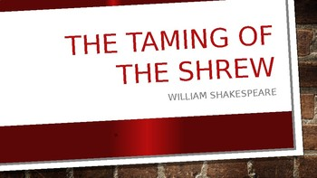 The Taming of the Shrew and Shakespearean Comedy