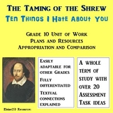 The Taming of the Shrew and Ten Things I Hate About You Scheme of Learning